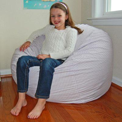 Bean Bag Chair Color: Lavender / White - http://delanico.com/bean-bag-chairs/bean-bag-chair-color-lavender-white-588910340/
