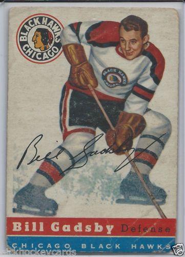 BILL GADSBY 1954-55 Chicago Black Hawks # 20