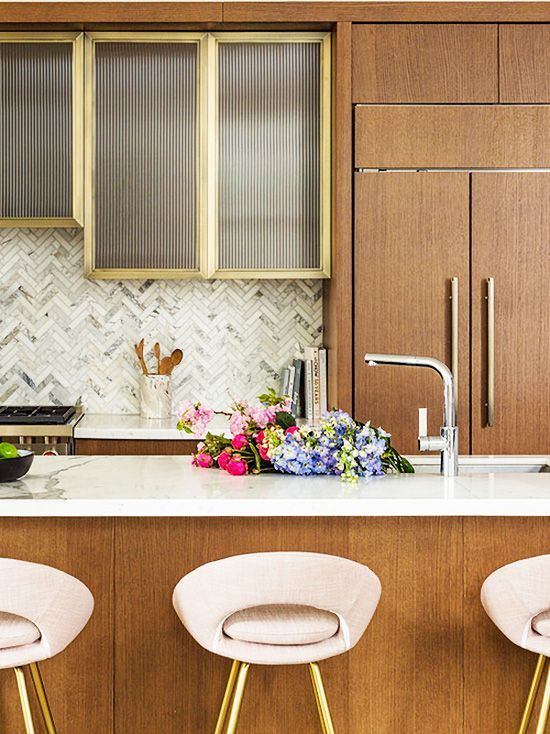 Playful Hues In A Manhattan High Rise Thou Swell Interior Design Kitchen Wood Kitchen Cabinets Home Decor Kitchen