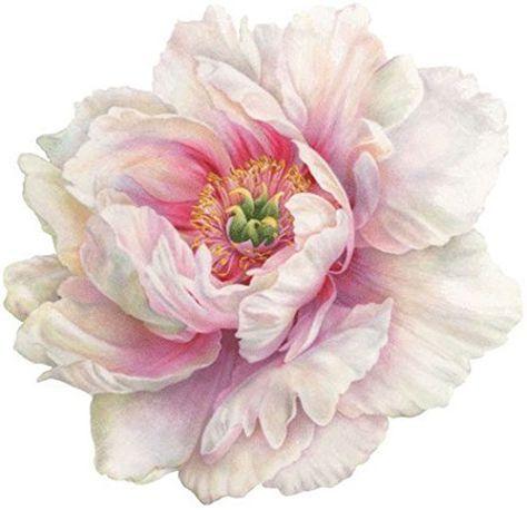Unique Custom 14 X 14 Inch Set Pack Of 4 Round Fla Https Www Amazon Com Dp B071xn6885 Ref Cm Sw R Pi Dp Flower Painting Flower Art Floral Painting