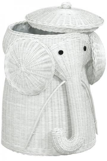 Hampers elephants and baby rooms on pinterest - Wicker elephant hamper ...