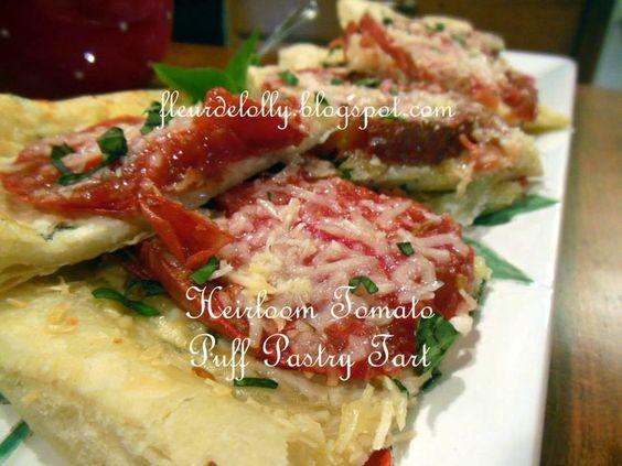 Fleur de Lolly: Heirloom Tomato Tart on Puff Pastry