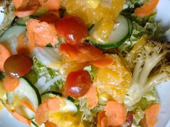 Delícia de Salada com Laranja!