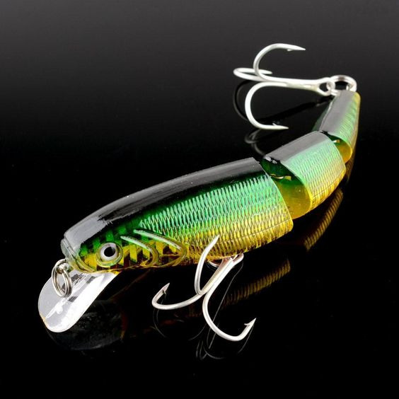 swimbait jointed top water minnow fishing lures hook crankbait, Hard Baits