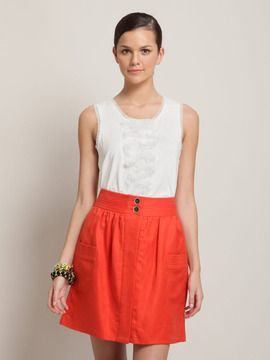 J Crew orange skirt...saw it the other day and I want it so bad!!