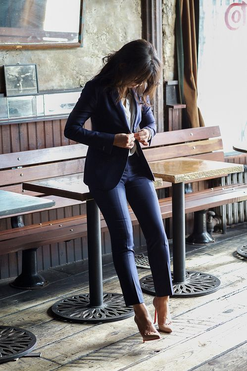 20 Basics Every Tall Women Needs in Her Closet (img cred: Bindle and Keep) - cropped pant for work