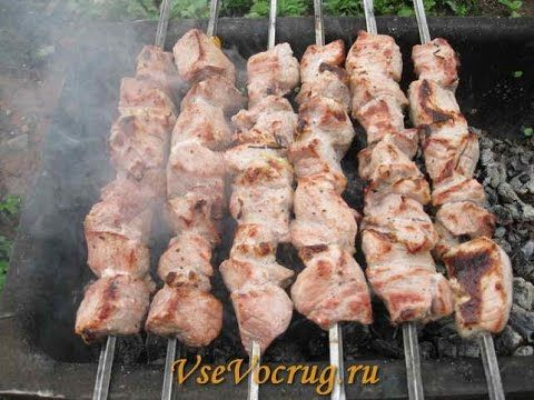 Шашлык из свинины с мятой и киви / Простые рецепты