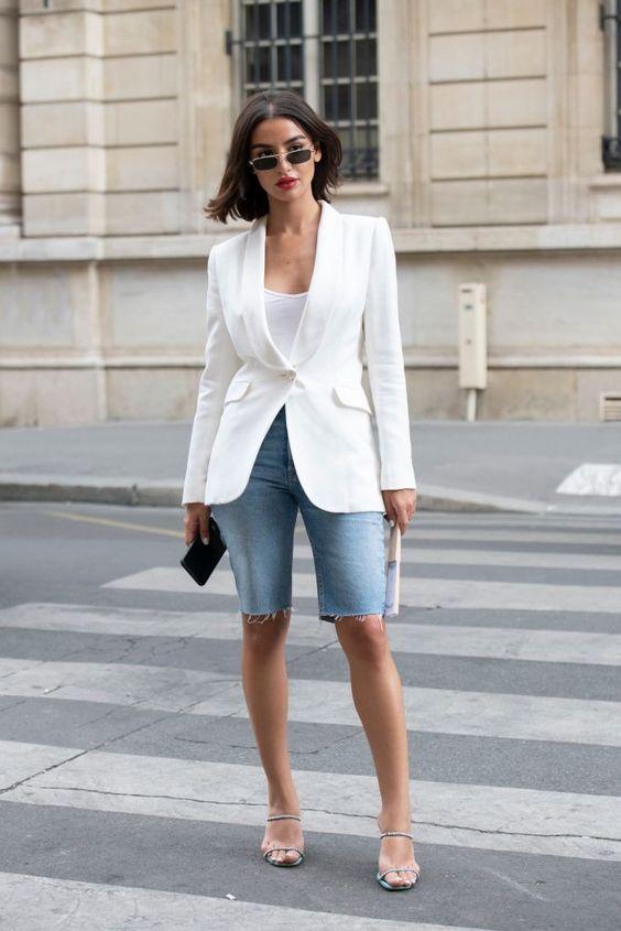 estilo casual com blazer tendência