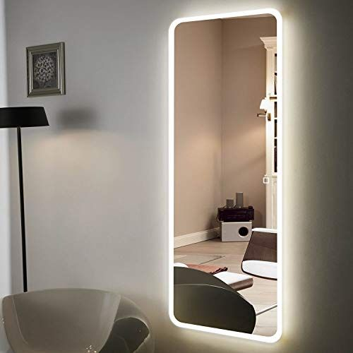 Great For H A 65 X22 Full Length Mirror Bedroom Floor Mirror Standing Or Hanging Led Border 65 Mirror Wall Bedroom Lighted Wall Mirror Mirror Wall Living Room