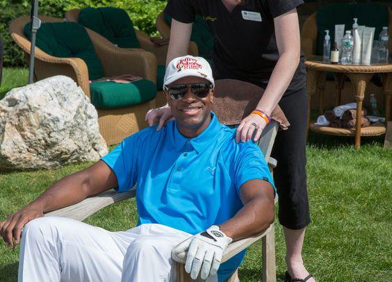 Actor #ChrisTucker wears his #sportsman Randolph's on a golf outing #RESunglasses #RandolphUSA #Sunglasses #MadeInAmerica