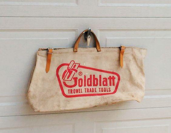 Goldblatt Tool Bag - Goldblatt Concrete Tools Tote by theindustrycottage on Etsy