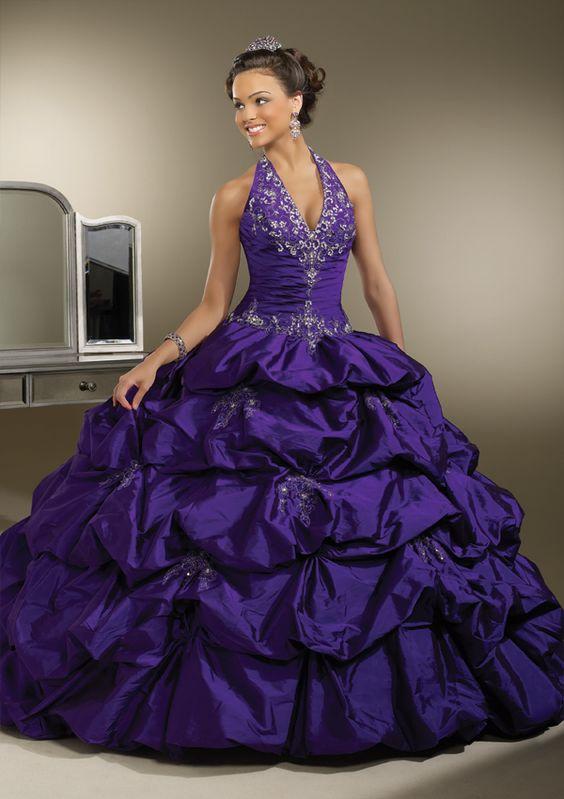 Fancy halter 16th birthday party prom dress