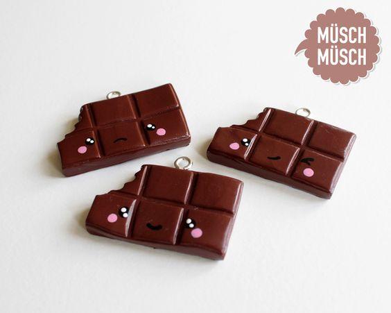 YUMMI! Großer Kawaii Schokoladen-Anhänger mit Öse von MÜSCH-MÜSCH!