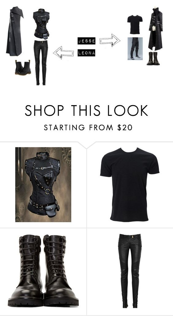 """Leona and Jesse chapter 3"" by yasi-bear246 on Polyvore featuring Disney, Yves Saint Laurent, Balmain and Dr. Martens"