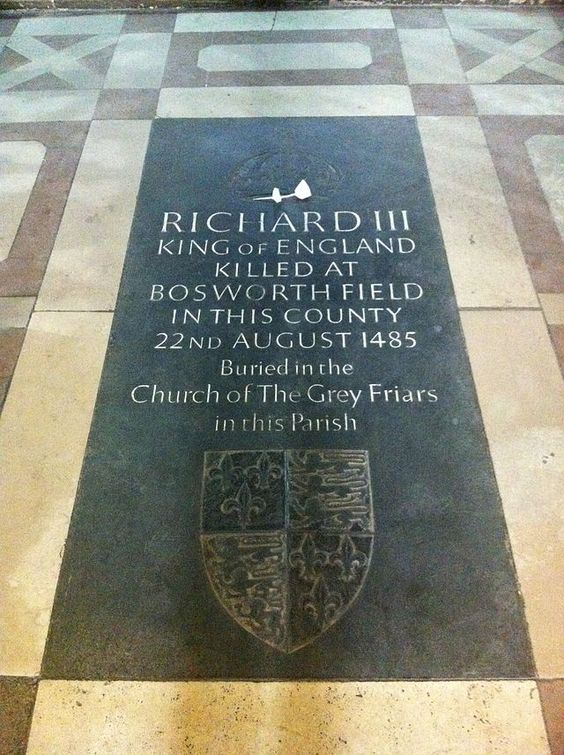 Finally at rest, Memorial to Richard III in the choir of Leicester Cathedral - March 2015