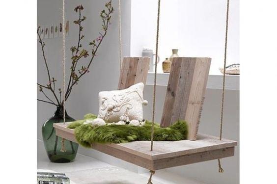 Indoor Schaukel selbstgebaut #DIY #Ideen