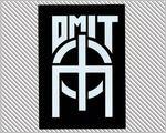 Omit Apparel sticker - logo bumper