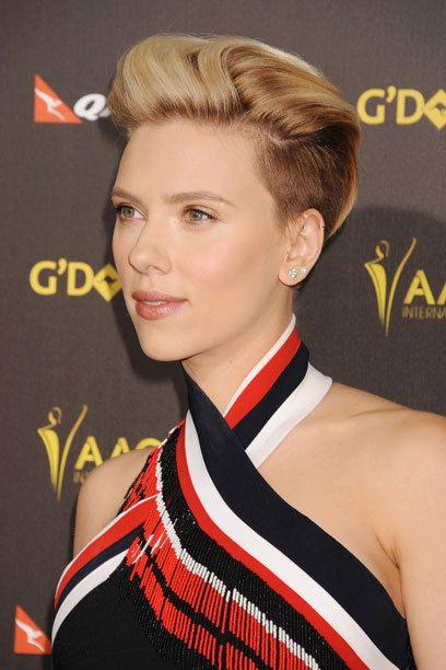 Frisurentrend Undercut: Scarlett Johansson trägt den Kurzhaarschnitt