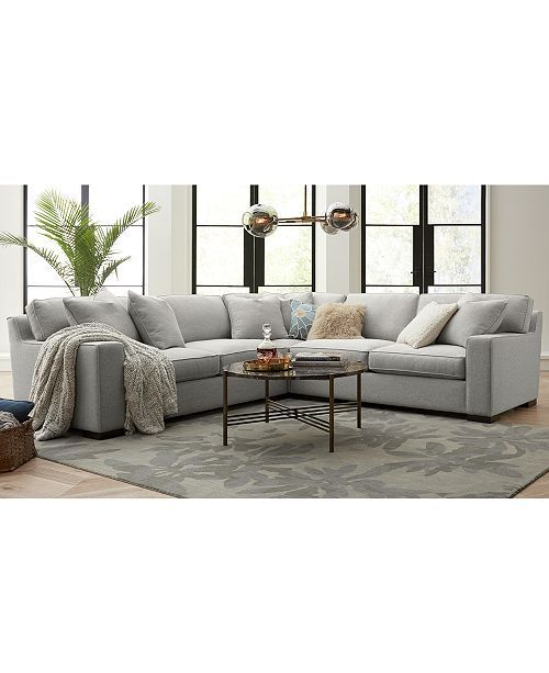 Furniture Bangor 3 Pc Sectional Sofa Created For Macy S Reviews