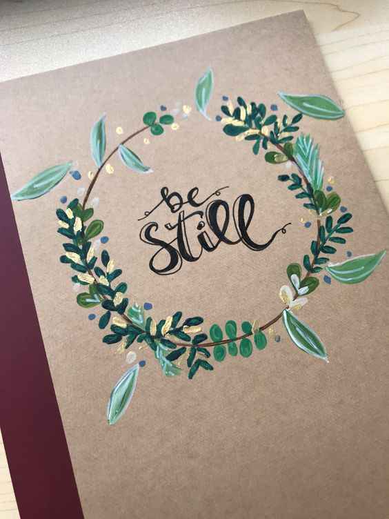 Pretty hand painted notebook cover idea. #WritingCommunity ...