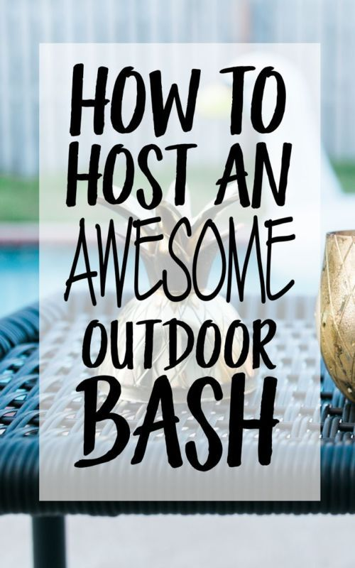 Having company over this summer? Make sure your backyard is party-ready! To transform your outdoor space into an awesome bash, follow these steps. Create a well stocked bar of soft drinks, champagne, water, and perhaps a signature specialty cocktail. If you've got a pool, get a fun pool float such as a swan or flamingo. Use reusable plastic drinkware and dinnerware in fun patterns. Set up a water-resistant speaker and turn up the music. Visit eBay for 8 ways to make your outdoor bash great.: