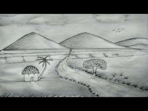 How To Draw Scenery Of Nature Shadow By Pencil Sketch Very Easy Step By Step Pencil Drawings Of Nature Shadow Drawing Nature Drawing