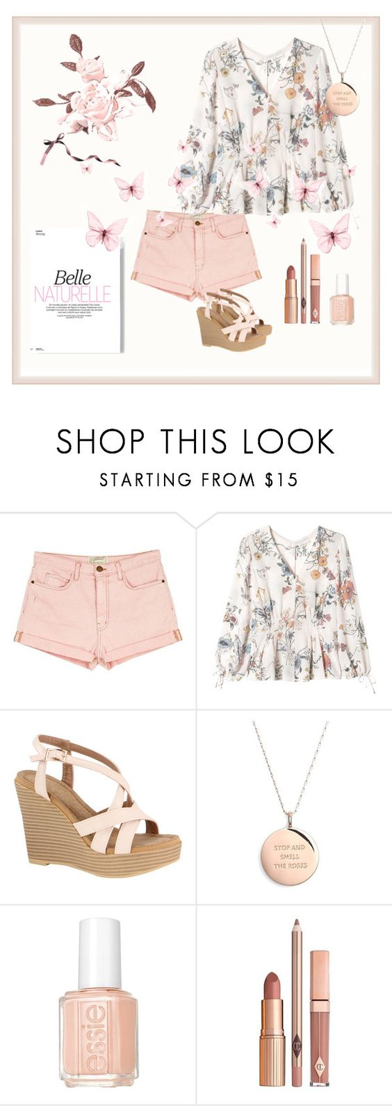 """""""Без названия #88"""" by s-igma ❤ liked on Polyvore featuring Current/Elliott, Rebecca Taylor, Kate Spade, Essie and Dolce Vita"""