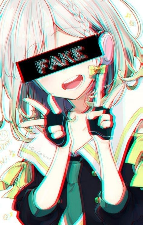 Fake Anime Crying Gothic Anime Anime Art Dark