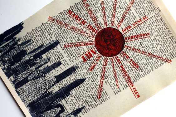 New York City Skyline 1960's Exhibition Reproduction Dictionary Book Page Print NYC Big Apple Cityscape. $10.00, via Etsy.