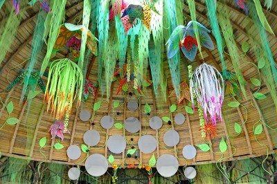 Ozora - 12. August Chillout Stadium Ozora Festival, eines der größten psychedelische Musik Treffen in Euorpe Ozora, Ungarn, Europa 12. August 2012 Stockfoto - 14963365