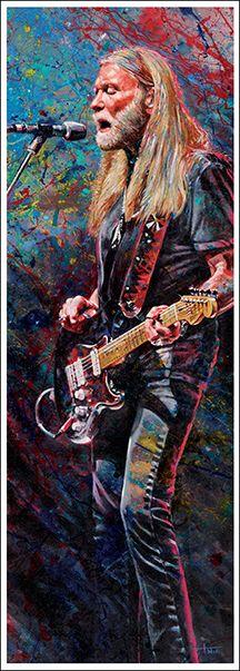 Gregg Allman by Tom Noll, Art That Rocks http://www.tomnoll.com/art-prints/