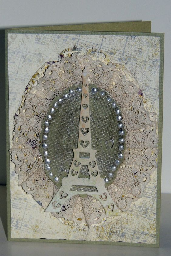 Frantic Stamper Happenings: Eiffel Tower Card (Sharon Jeffs)