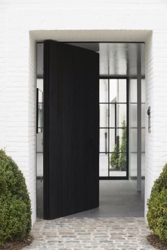 Pivoting Black Door