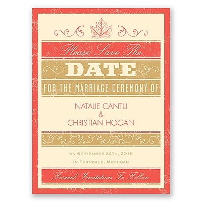 Autumn Typography Save the Date #FallWeddings #SaveTheDate #Typography