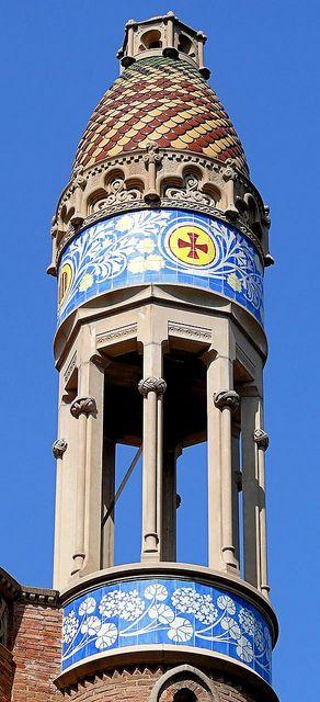 Hospital de la Santa Creu i Sant Pau. Architect: Lluís Domènech i Montaner…