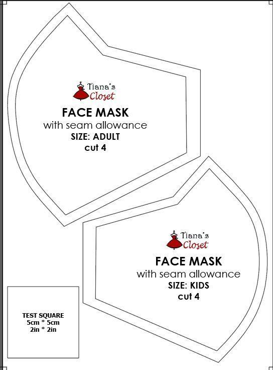 Free Corona Virus Mask Pattern