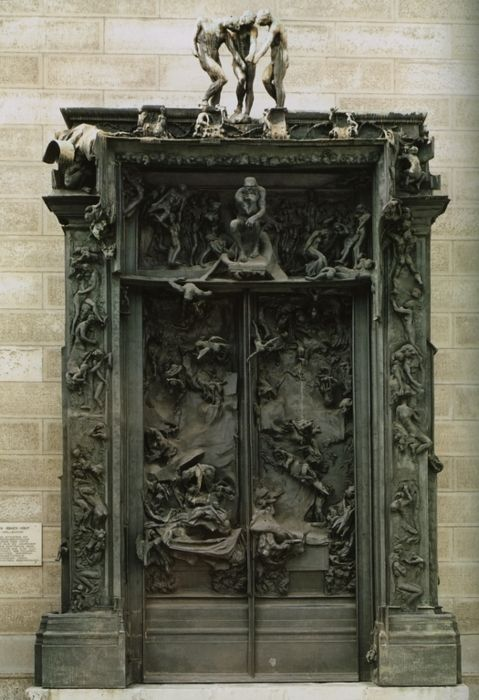 Gates of Hell, Auguste Rodin, The Musee Rodin, Paris.: