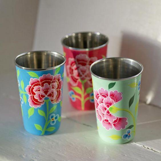 Franjipani Floral Cups