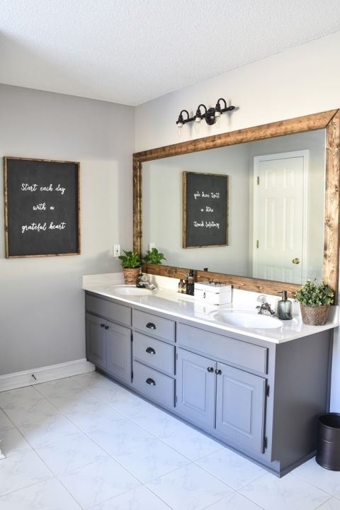 Farmhouse Master Bathroom Makeover Done For 100 15 Of 31
