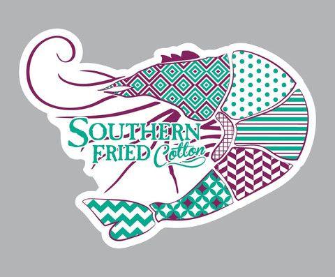 Preppy Shrimp Decal – Southern Fried Cotton
