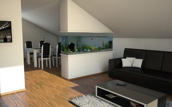 Aquarium Interior Design photo design aquarium Pinterest - offene küche wohnzimmer abtrennen