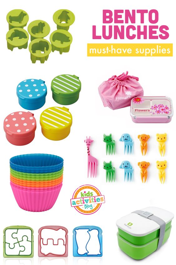 Bento Lunches {Must-Have Supplies} - Kids Activities Blog