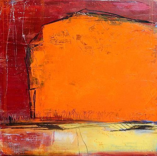 conny wachsmann abstrakt orange rot einweihungsfeier abstraktes dekoratives abstrakte kunst abstrakter e malerei abstraktion in der bilder acryl