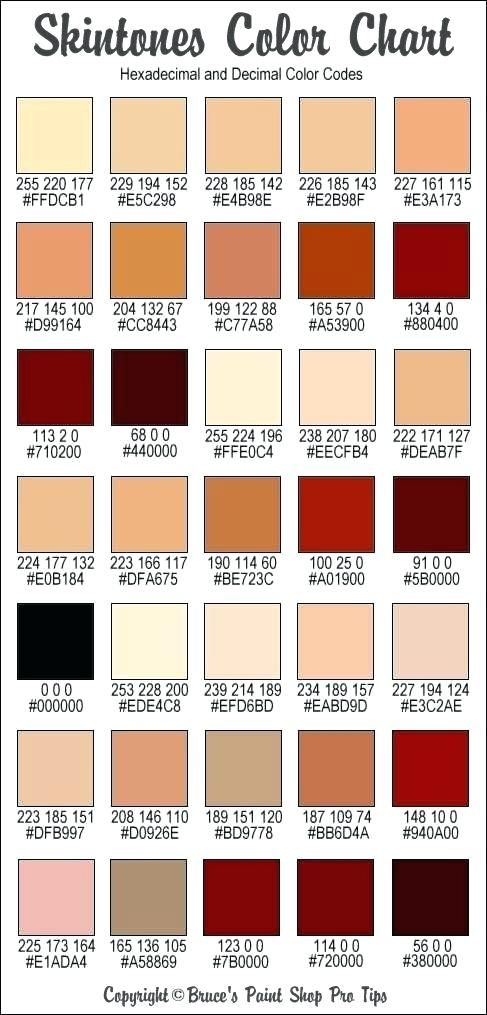 Prismacolor Skin Tone Set Color Code Chart And Hex Codes For