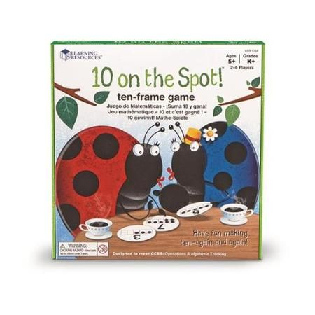 Learning Resources 10 On The Spot! 10-Frame Game