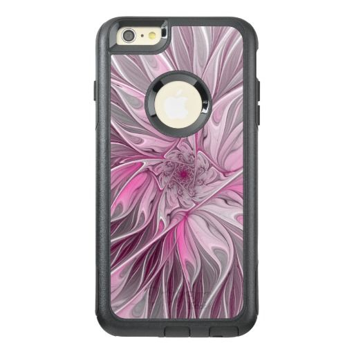 Fractal Pink Flower Dream, floral Fantasy Pattern OtterBox iPhone 6/6s Plus Case