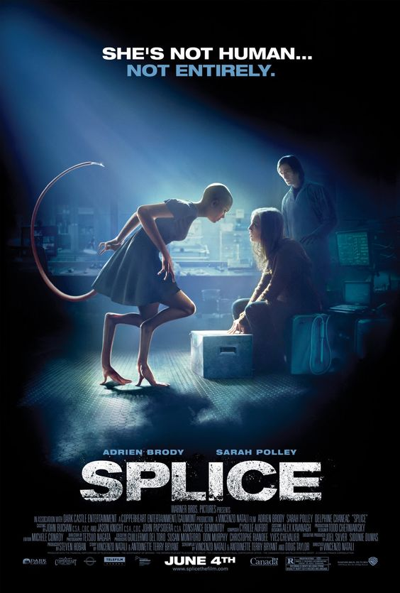 Splice - Review: Splice (2009) is a sci-fi horror film directed by Vincenzo Natali (Cube (1997), Darknet, Hemlock Grove,… #Movies #Movie