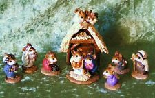 Wee Forest Folk M-117/ETC  CHRISTMAS PAGEANT SET OF 8 - CONSIGNMENT