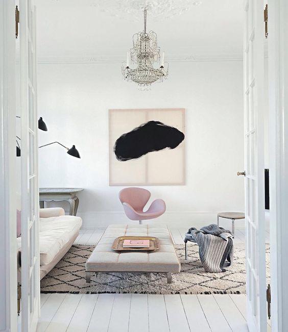 wohnzimmer rosa weiß:Pink Swan Chair