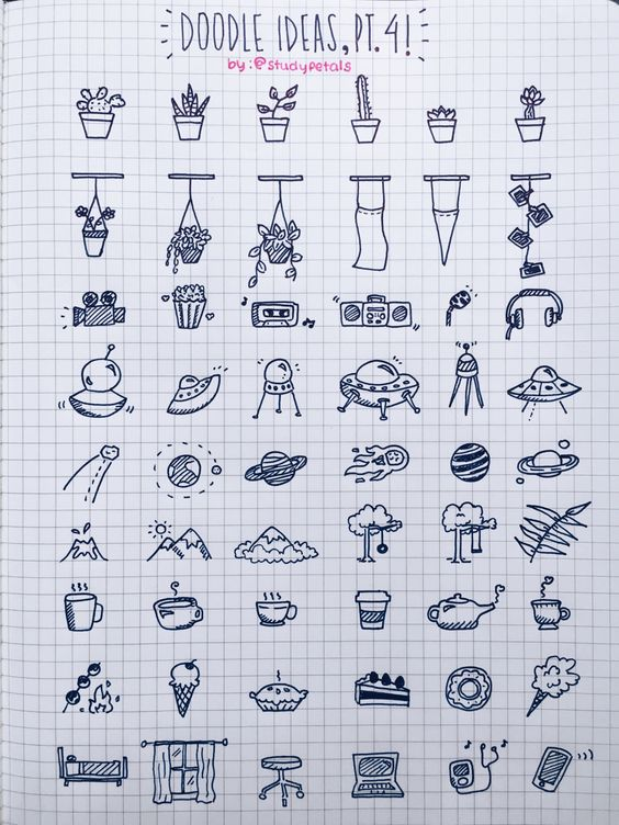 """3.29.16+1:45pm // 26/100 days of productivity // the very kind@men-bong asked if i could post more doodle ideas, so here's another doodle reference sheet! looks a lot like the first one but trust me; it's very different! also, it's a little dreary today. i feel like staying in and snuggling up with just the fairy lights on.song of the day:""""winter"""" - mree"""